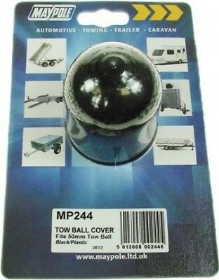 Maypole Plastic Tow Ball Cover Protector Black 50mm | Towing Trailer Caravan