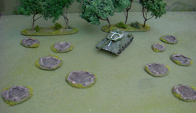 WARGAMES 15mm DIRT ROAD No 3 Flames WW2 handmade by FAT FRANK