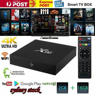 X96 Android 6.0 TV Box 4K Amlogic S905X Quad Core 2G+16G 2.4GHz Wifi OP