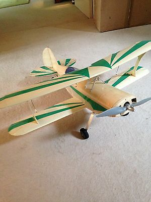 """Radio Controlled Aeroplane Aircraft 31"""" Span Pitts Special Bi Plane Used"""