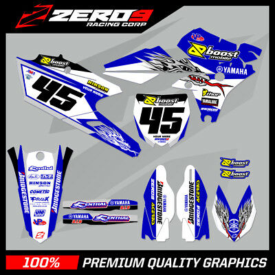 Yamaha Yzf 250 450 014 - 016 Motocross Graphics Mx Graphics Kit Yamaha Of Troy