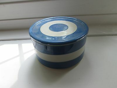 A Blue and White T G Green and Co, Cornishware Jar