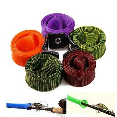 Elastic Fishing Rod Sleeve Cover Pole Glove Protector Gear Tackle Bag 5 Colors