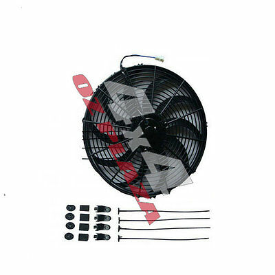 "16"" ENGINE COOLANT FAN + MOUNTING UNIVERSAL PULL / PUSH RADIATOR Cooling Fan UK"