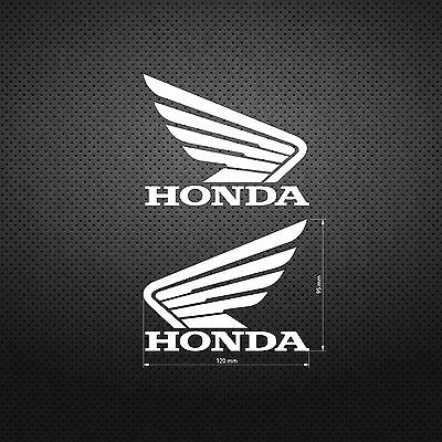HONDA STICKER WING DIE CUT DECAL VINYL RACING 2 pcs