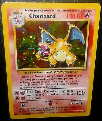 Charizard Holo Rare Base Set Number 4/102 Near Mint Condition L@@K!!!