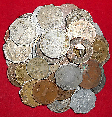 Republic/British India Mix Lot 50 Diffirent Mint & Years & Other Coins (Fc335)