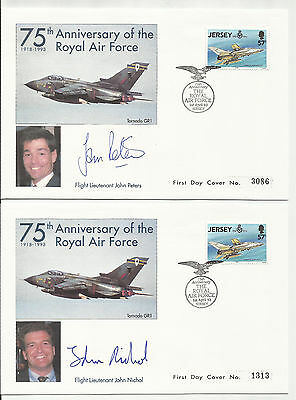 75th Anniv of Royal Air Force -  First Day Covers - Jersey - 1993 - Limited Edn