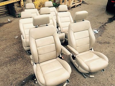 *vw Sharan Mk2 2001 - 2010 Complete Tan Leather Interior Seats Door Cards
