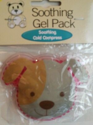 Kids Child Soothing Gel First Aid Cooling Cold Compress Reusable Gel Dog Pink