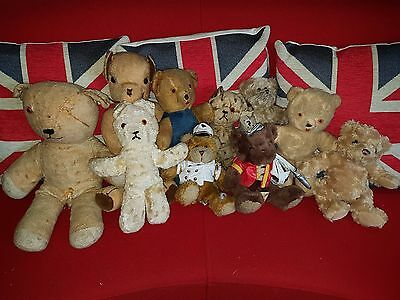 Collection Bundle Of Bears - Job Lot #1 of 10 Bears (Some may be broken)