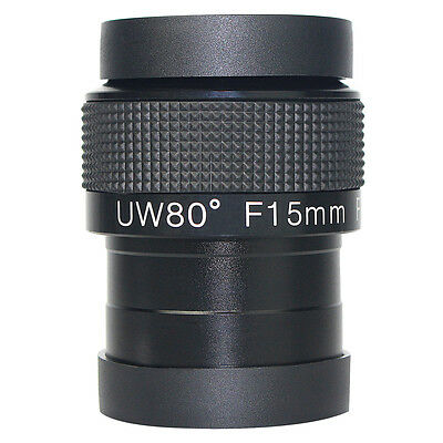 TOP 2'' Angle 80° Eyepiece Fully Multi-Coated F15mm Ultra Wide For Telescope