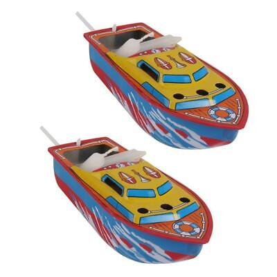 2Pcs Pop Pop Boat Vintage Candle/Steam Powered Put Put Boat Toy Collectible