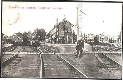 Wales. Cambrian Railways)Three Cocks Junction 1909 Used Postcard