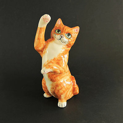 Babbacombe Pottery (Devon/torquay) - (Lrg) Stretching Ginger Cat