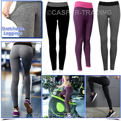 Women Yoga Trousers Ladies Fitness Leggings Running Gym Exercise Sports Pants UK