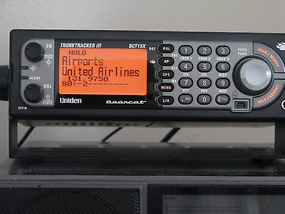 Uniden BCT-15x Scanner. Complete with a Stu Howells USB programming Cable