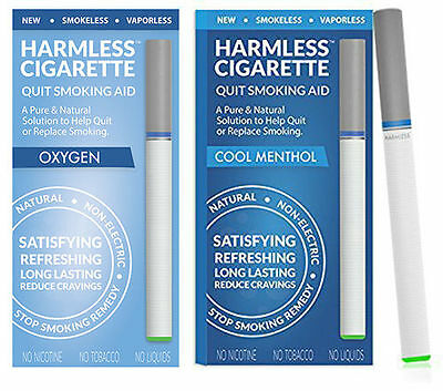 Harmless Cigarette Quit Smoking Aid Variety 2 Pack Oxygen and Cool Menthol