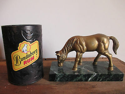 Vintage Detailed Brass Horse On Stand Figurine Statue 9cm Tall