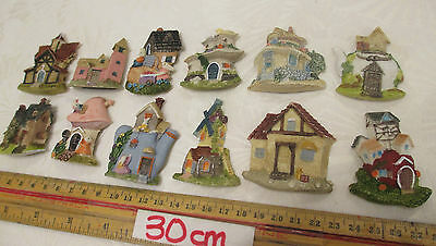 12x NEW Fridge Kitchen Magnets Toy Different Houses Country Cottage Rabbits