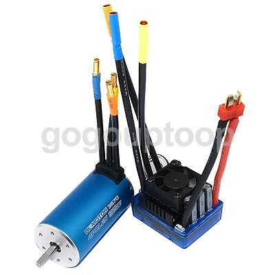 Waterproof Brushless Motor 3670 2150KV and ESC 80A Combo for RC 1/8 1/10 Parts