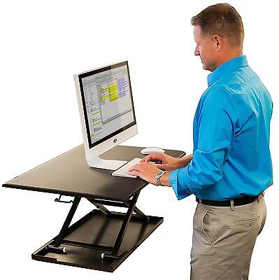 Stand Up Desk Store Air Rise Standing Converter Sit to with your current in...