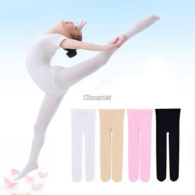 Children's Girls Ballet Dance Tights Footed Seamless Solid Stockings OK02