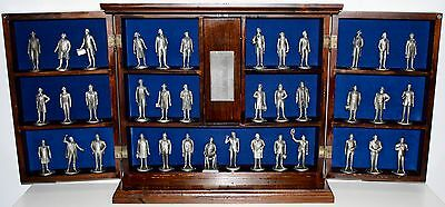 RARE LANCE Fine Pewter American President Collection Original Wood Display Case