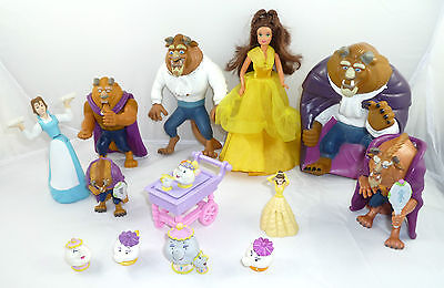Great Disney Beauty & The Beast Figures Toy Lot + Friends Toys