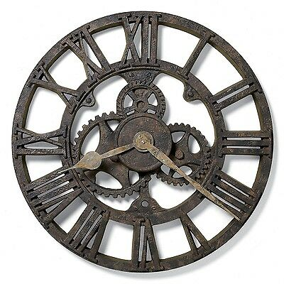 Wall Clock Gear Steampunk Antique Style Decorative Round Home Office New Clocks