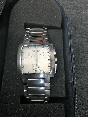 LONGINES Chronograph Stainless Steel Quartz Men's Unisex Watch with Case