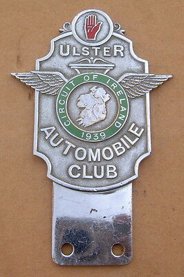 Original 1939 Ulster Automobile Club Enamel Car Badge