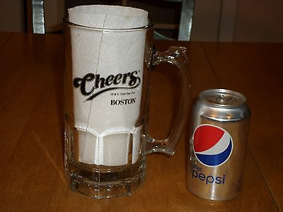 CHEERS - BOSTON, Television Show, CLEAR GLASS BEER MUG, 34oz., 1994 yr.