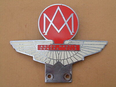 Original Aston Martin Owners Club Enamel Car Badge