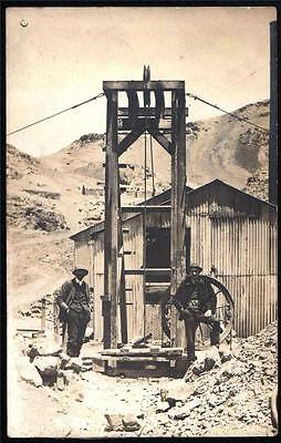 Mining/drilling Social History.  Early  Real Photo Postcard