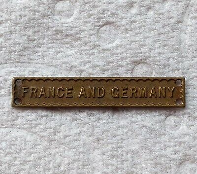 FRANCE AND GERMANY CLASP - Genuine British WW2 War Medal Bar