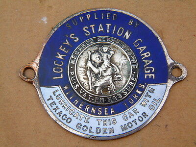 Lockeys Station Garage Withernsea St Christopher Suppliers Enamel Badge