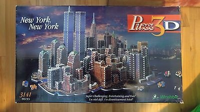 Rare Hard To Find Wrebbit 3D New York New York Puzzle - 3,141 Pieces UNCOUNTED!!