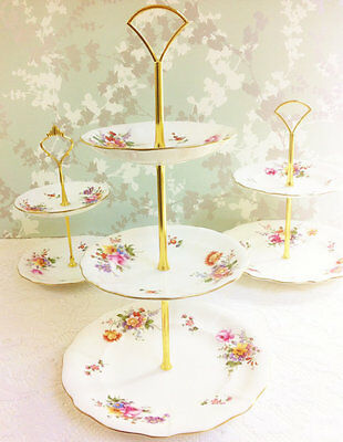 """Royal Crown Derby """" Derby Posies """" 3 Tier Cake Stand"""