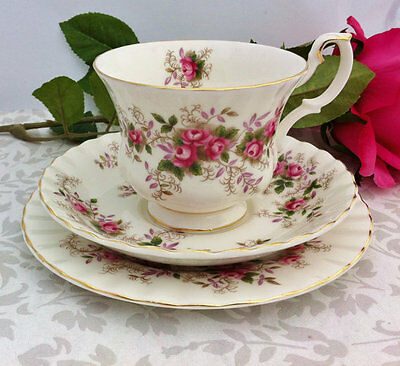 "Royal Albert ""Lavender Rose"" Tea Trio"