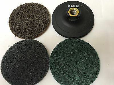 "Mixed Grade, KEEN-BRITE Surface conditioning H&L Disc Kit, 5"", 54748"