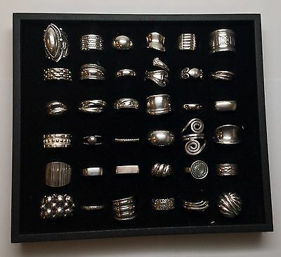 Lot Of 36 Sterling Silver Rings, No Stones (C)