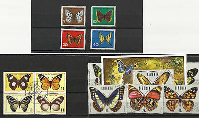 Butterfly Stamps on 3 stockcards