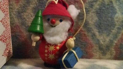 Steinbach Hand Made Wood Ornament Scottish Santa Claus Made in Germany w/ Box