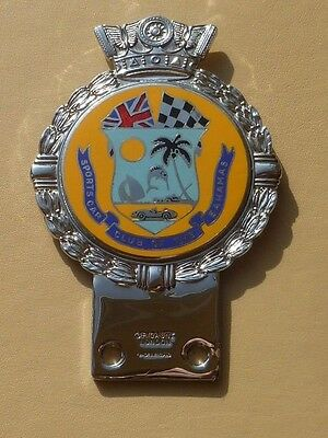 Vintage Original Car Badge/auto Emblem. J.r.gaunt.sports Car Club Of The Bahamas
