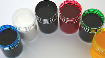 6 X WATER BASED GLASS PAINTS SET Stained Transparent CRAFTS