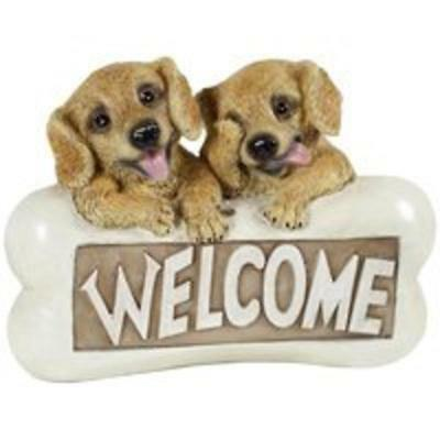 Solar Light Welcome Dogs Boston Harbor Solar Powered Light Ornaments