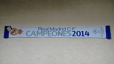 UEFA Champions League Final Lisbon 2014 Real Madrid Champions Of Europe Scarf
