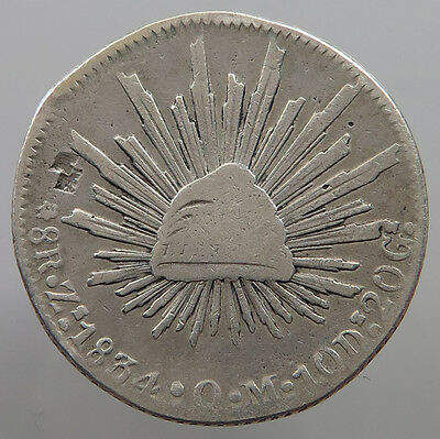 MEXICO 8 REALES 1834 ZS CHOP MARKS   #t17 385