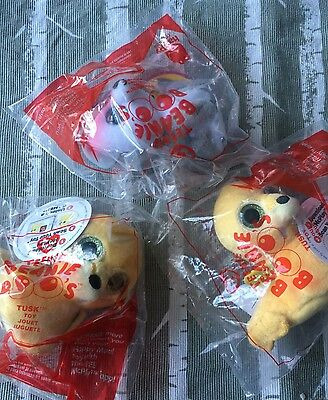 McDonald's 2017 Happy Meal Ty Teenie Beanie Boo Lot New Tusk And Timber 3 Total!